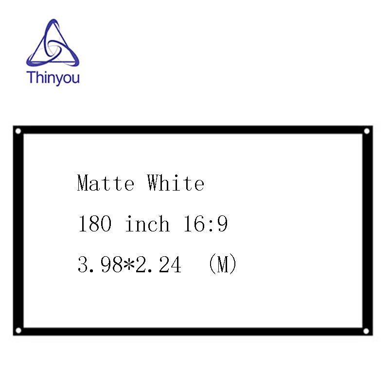 Thinyou 180 Inch 16 9 font b Projector b font Screen Roll Up Portable Matte White