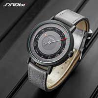 Relogio Creative Quartz Watches Unique Design Watch Men's Man Wristwatches Male Military Clock Casual SINOBI Relogio Masculino