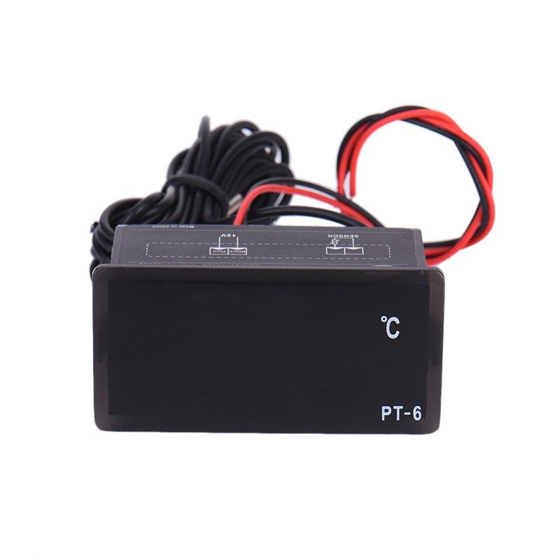 Автомобильный цифровой термометр, светодиодный датчик температуры 40 ~ 110 градусов 12 В|temperature meter|led temperaturedigital thermometer | АлиЭкспресс