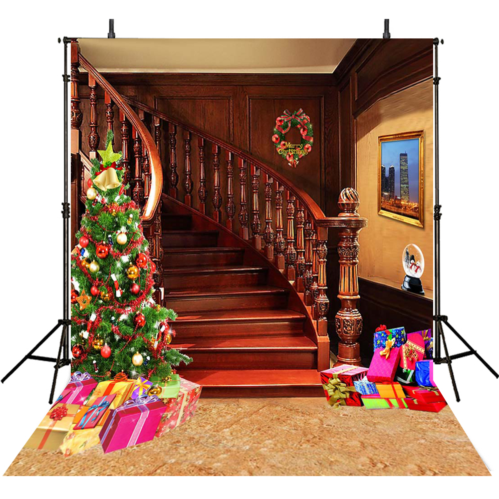 Staircase Photography Backdrops Christmas Backdrops For Photography ...