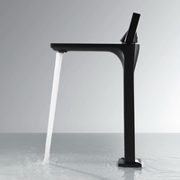 Blackness Brass Basin Faucet Deck Mounted Single Handle Cold And Hot Bathroom Sink Water Mixer Tall Style/Short Style