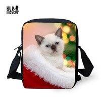 HUE MASTER Cool Cat Small Messenger Bag Kids Children Women Crossbody Bags The Best Christmas Present