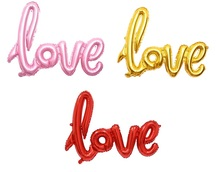 50pcs/lot Small LOVE letter foil balloons Wedding Party Engagement decoration supplies air globos Valentine's Romantic love balo