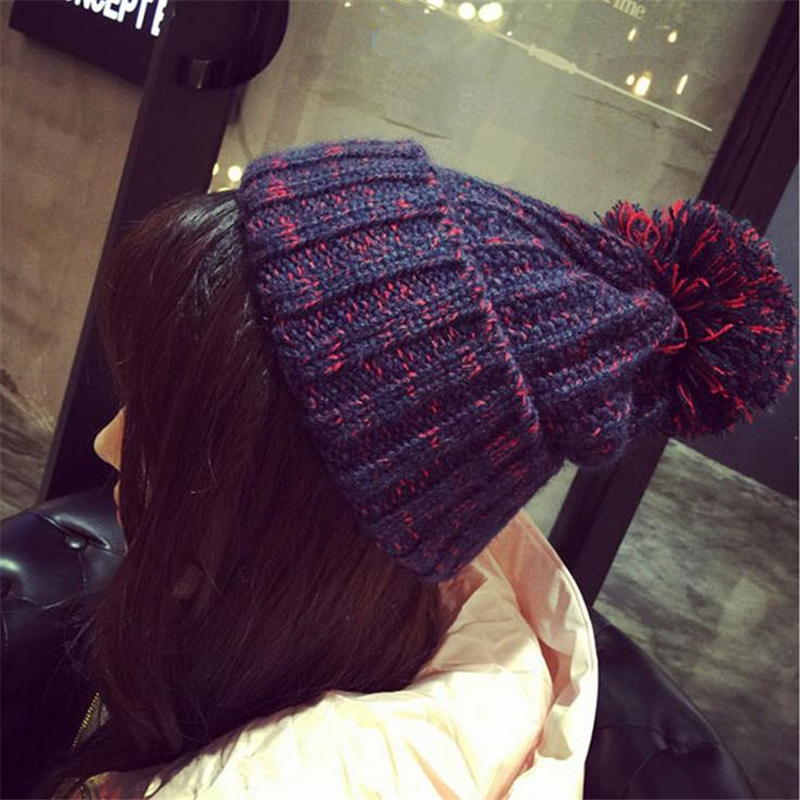 DoreenBow Autumn Winter Fashion Women Knitted Warm Hat Keep Ear Warm Pom Pom Ball Skullies Caps Gray Yellow Navy Blue,  1 Piece игрушка ecx ruckus gray blue ecx00013t1