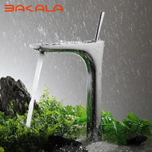 BAKALA Chrome Elegant Mixer Basin Faucet Bathroom Sink Tap Deck Mount Sink Faucet Bath Faucet Mixer