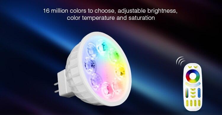 MR16 4 W Mi Luz Lâmpada LED Lâmpada Luz Regulável AC/DC12V RGB + Branco Quente + Branco (RGB + CCT) spotlight Indoor Férias Decorationn