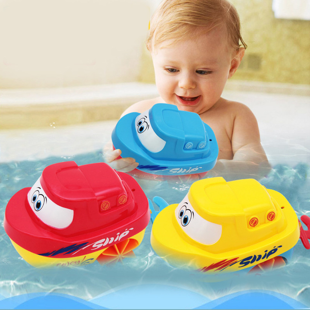 Baby Float Ship Bath Toys Bath Toy Educational Toys For Children Kids Sea Pull Wire Water Play Bathroom Toy For Swimming