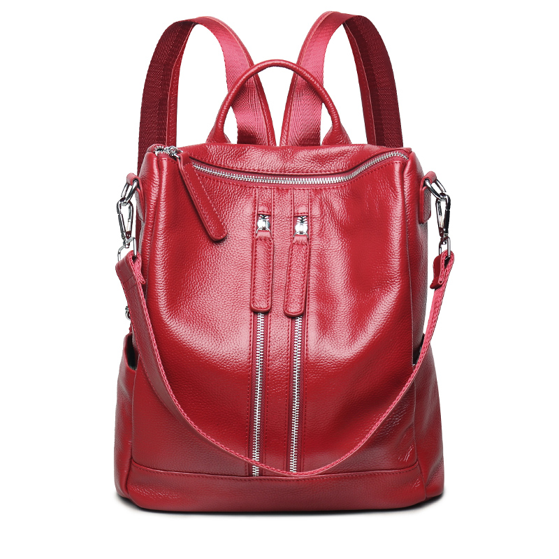 Women Genuine Leather Backpacks For Teenagers Girls Brand Ladies Fashion Backpacks  School Bags Real Leather Travel Bags кружка радуга 305мл фарфор