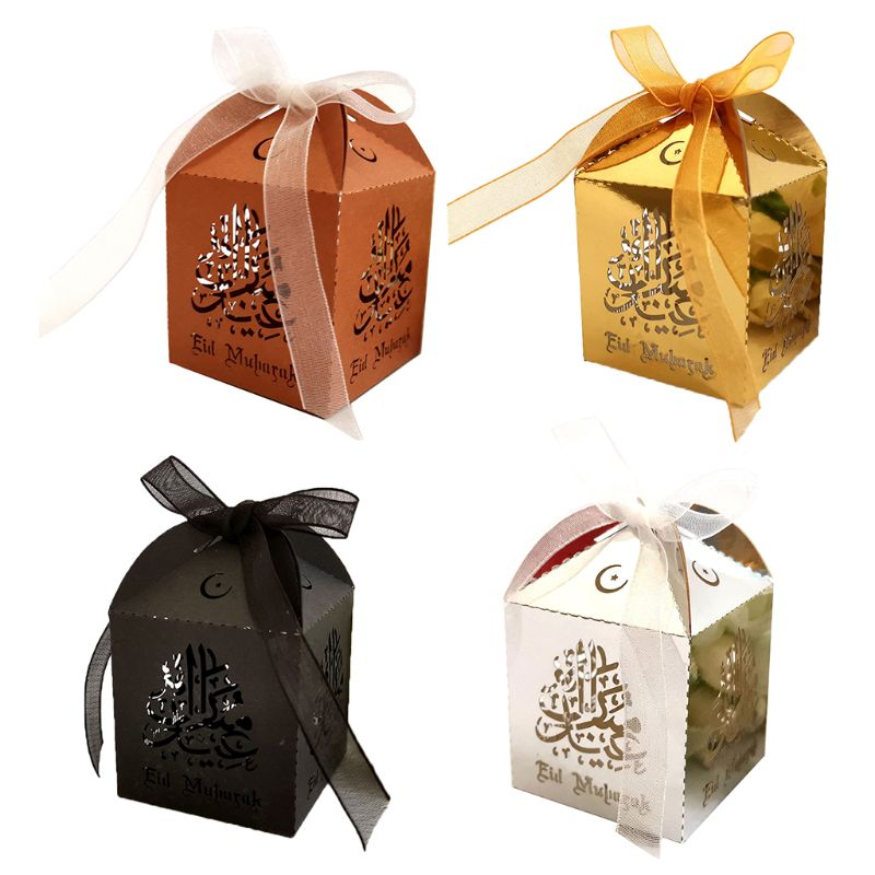 25pcs Laser Cut Hollow Candy Box With Ribbon Wedding Party Favors Boxes Muslim Eid Mubarak Ramadan Party Decoration25pcs Laser Cut Hollow Candy Box With Ribbon Wedding Party Favors Boxes Muslim Eid Mubarak Ramadan Party Decoration