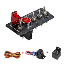 12V LED Ignition Switch Panel for Racing Car Engine Start Push Button LED Toggle Switch Carbon Fiber QT313 cheap QTZOFP 0 1inch 9inch 15inch carbon fiber panel 0 5kg 6 6inch ISO9001 2018 Racing Car 12V LED Ignition Switch Panel Racing Car Engine Start Push Button 12V
