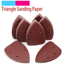 10pcs 140x90mm Self adhesive Sandpaper Triangle Sander Grit 40 400 Sand Paper Sanding Disc Abrasive Tools For Polishing Wood