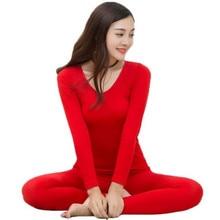 2018 New Seamless Thermal Underwear Ladies Autumn Winter Thin Beauty Body Women's Sets Round Neck Warm Long Johns Underwear Suit