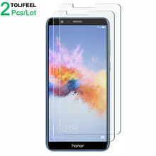 2Pcs Tempered Glass For Huawei Honor 7X Screen Protector 9H 2.5D Phone