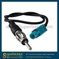 Superbat RF Coaxial cable Adaptador de Antena FAKRA Fakra DIN M universal de alambre para AM/FM antena de conector macho RG174 30 cm