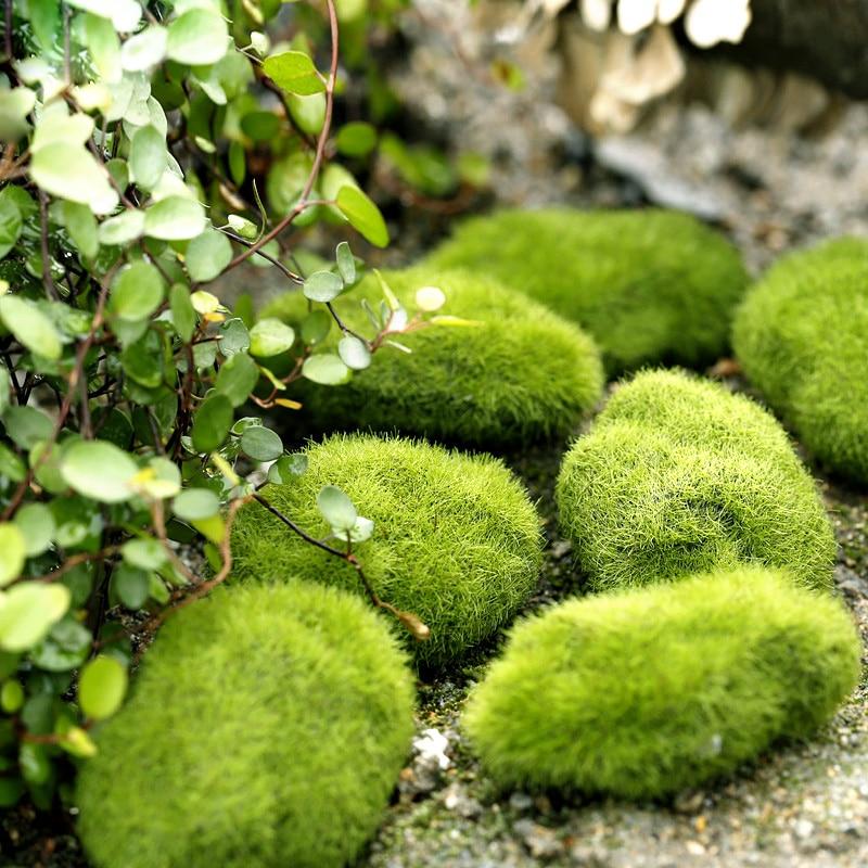 1 Pcs Simulation Grass Green Figurine Micro Landscape Home Miniature Decoration Accessories Craft Foam Fairy Garden Supplies