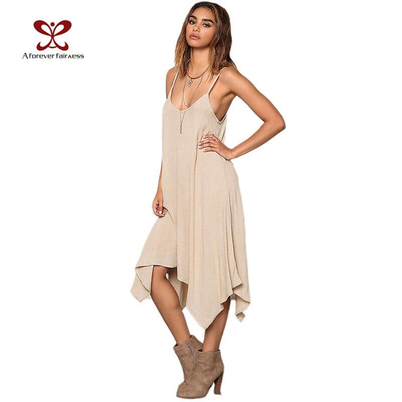Un siempre summer dress 20i7 mujeres ocasional floja asimétrica vestidos solid c