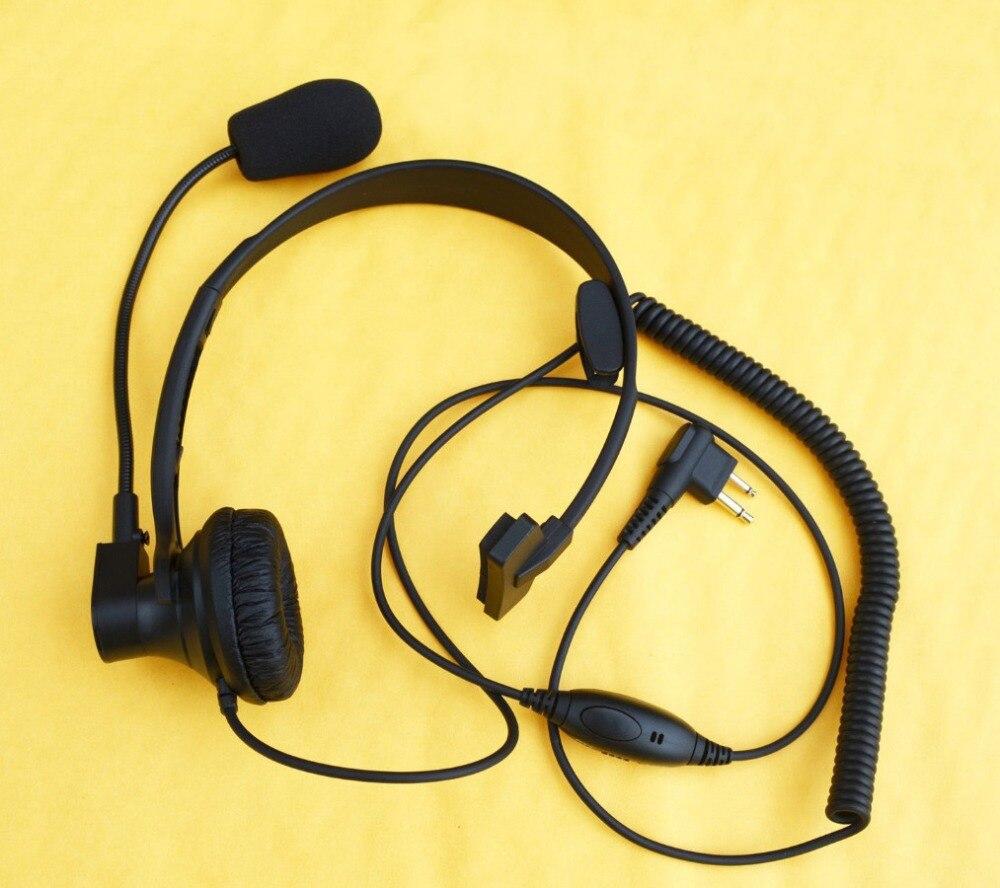 Sur La Tête Casque/Écouteur Boom Mic Écouteurs VOXPTT Pour Motorola Radio P040 P080 P100 P110 P200 P1225 P1225LS DTR550 650 DTR410
