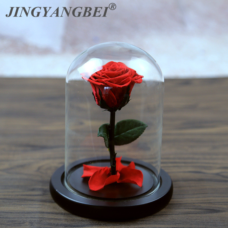 Glass cover saving roses for valentine's day, birthday gifts, Christmas, wedding gifts wholesale Ecuador eternal rose flower