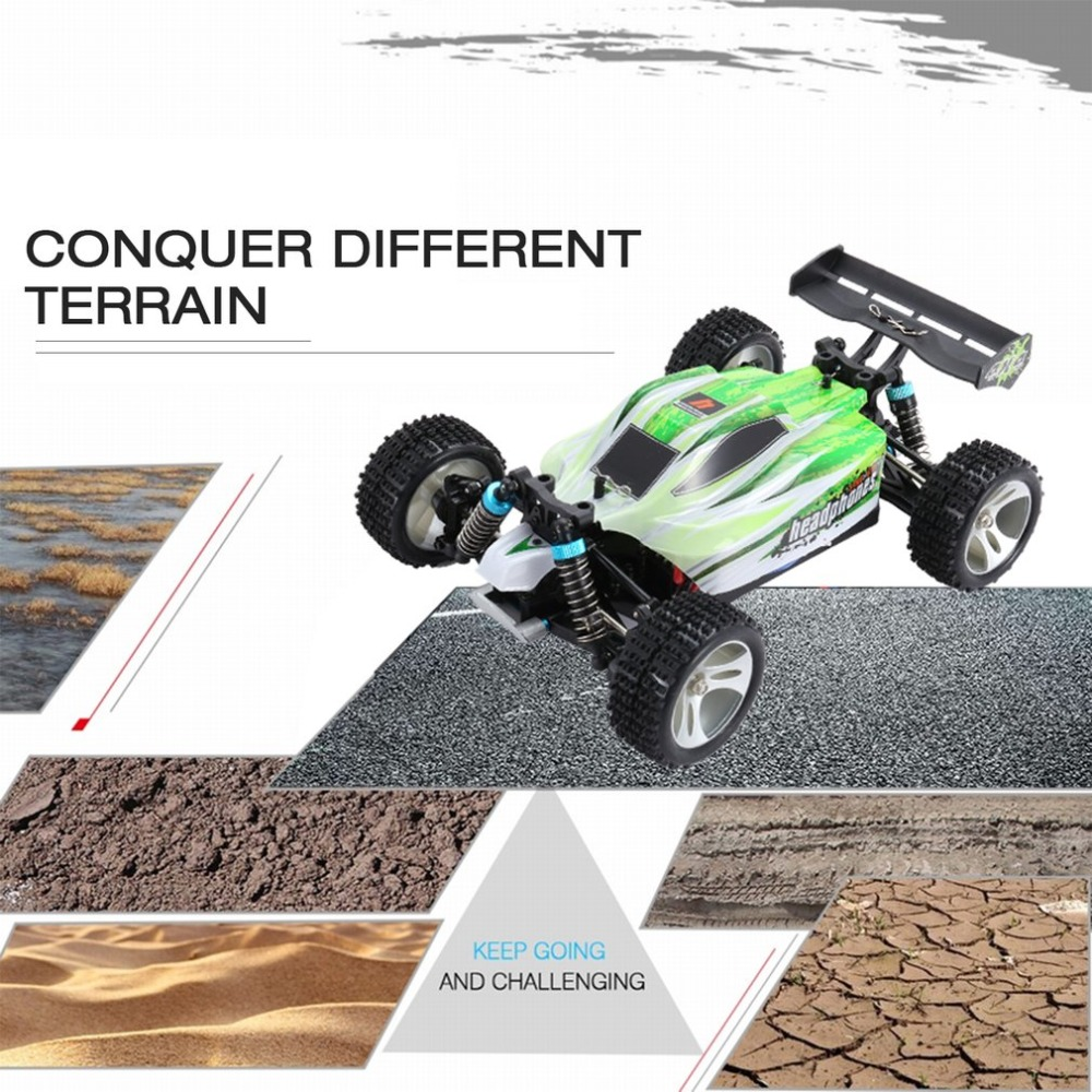 RC car 540 brushed green RTR vehicle high speed electric 1/18 Scale 4CH off-road buggy remote control cars hongnor ofna x3e rtr 1 8 scale rc dune buggy cars electric off road w tenshock motor free shipping