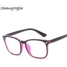 8751cf327a 2018 moda mujer gafas marco hombres anteojos marco Vintage cuadrado gafas  ópticas marco Grau despejan las lentes Anti azul