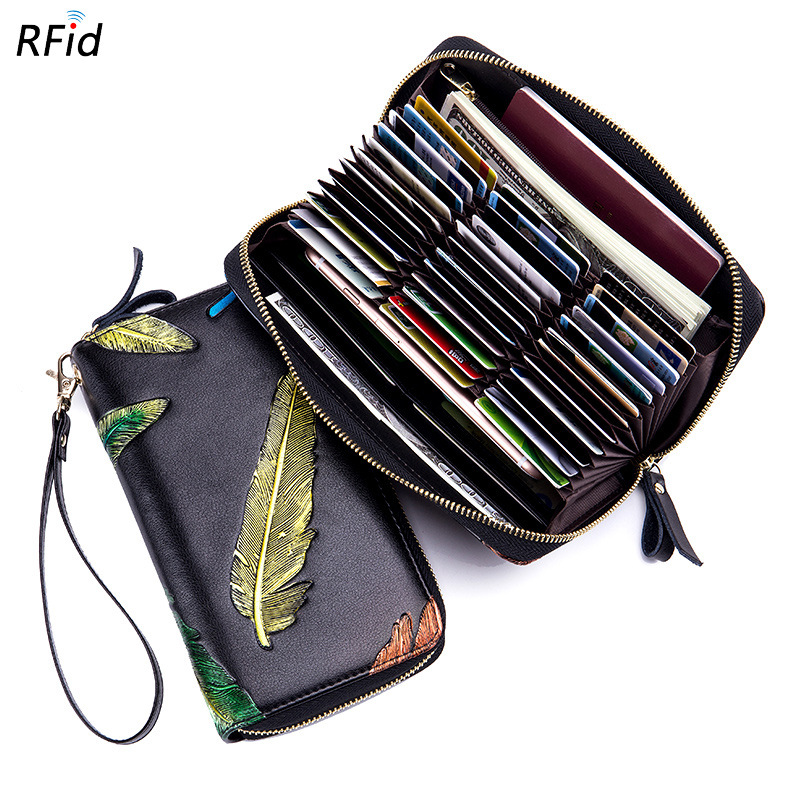 Rfid 36 Card Slots Genuine Leather Women Card Holders Large Capacity Credit Card Holder Wallet Female Business Card Holders Bag 2018 new fashion unisex credit card holders genuine leather multi pvc card slots metal hasp business card id holders cow leather