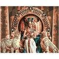 Картина по номерам DIY, дропшиппинг 40x50 60x75 см, леопард и Клеопатра, фигура, холст, свадебное украшение, художественное изображение, подарок