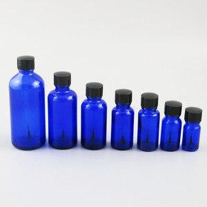 Image 1 - 200 x 5ml 10ml 15ml 20ml 30ml 50ml 100ml Cobalt Blue Nail Polish Glass Bottle  With Black Brush Cap 1oz Glass Cosmetic Container