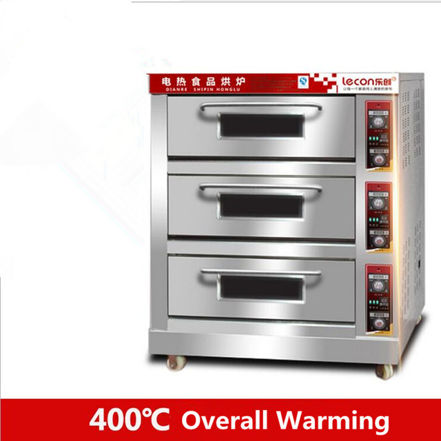 3 Layer 6 Trays Commercial Electric Pizza Oven Baking Oven Making Bread  Pizza Cake Egg Tart