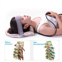 Portable Air Pump Neck Cervical Traction Tractor Massage Pillow Posture Corrector Vertebra Massager Spine Relax Muscle Pain