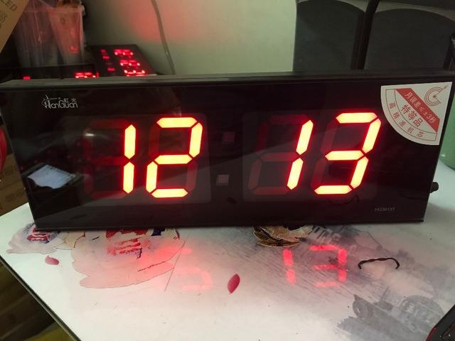 Large led digital wall clock living room big screen led numbers clock desktop and hanging dual-use decor clock with luminova