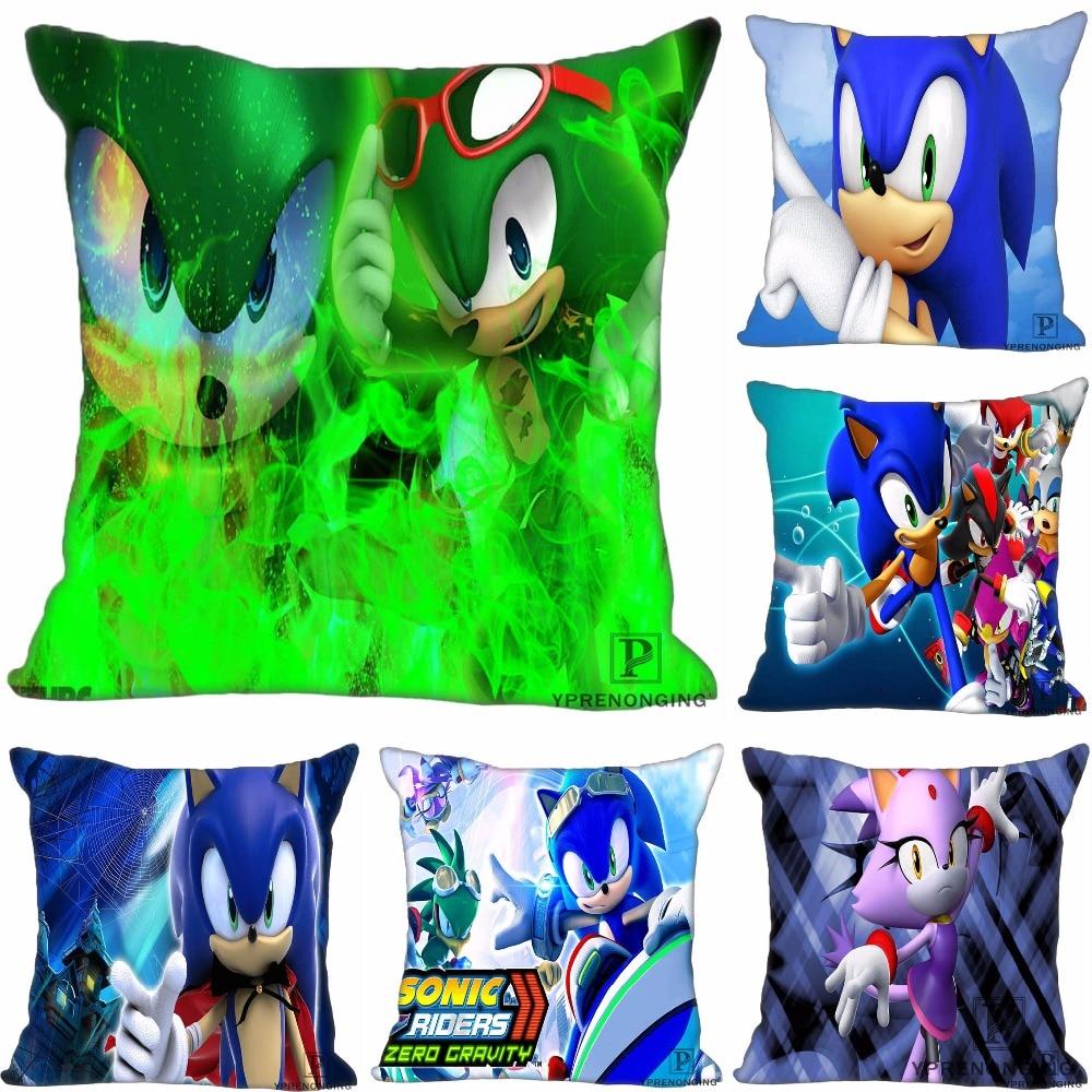 Custom Sonic The Hedgehog Game Square Pillowcase Custom Zippered Pillow Cover Case 35X35,40x40,45x45cm(One Side)180522-02-226