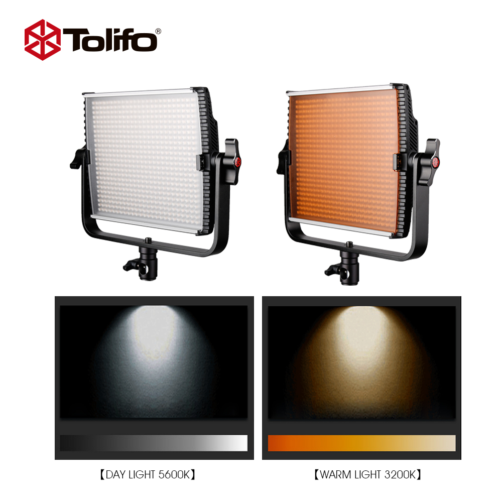 tolifo 1520 leds bi color 3200k 5600k dmx led video studio photo light high cri 2 4g wireless remote control Tolifo GK600MS 5600/3200K Color Switch Wireless Remote Control LED Studio Light with Barndoor for Photography and News Interview