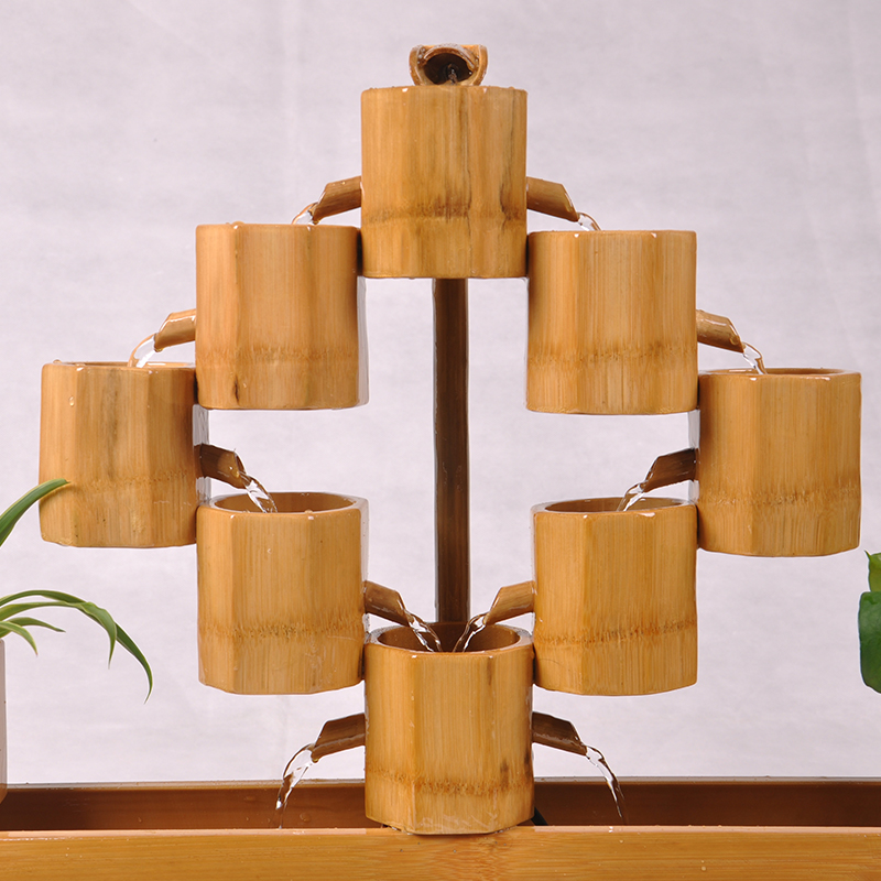 Water story living room opening gifts Lucky bamboo water fountain - Home Decor - Photo 2