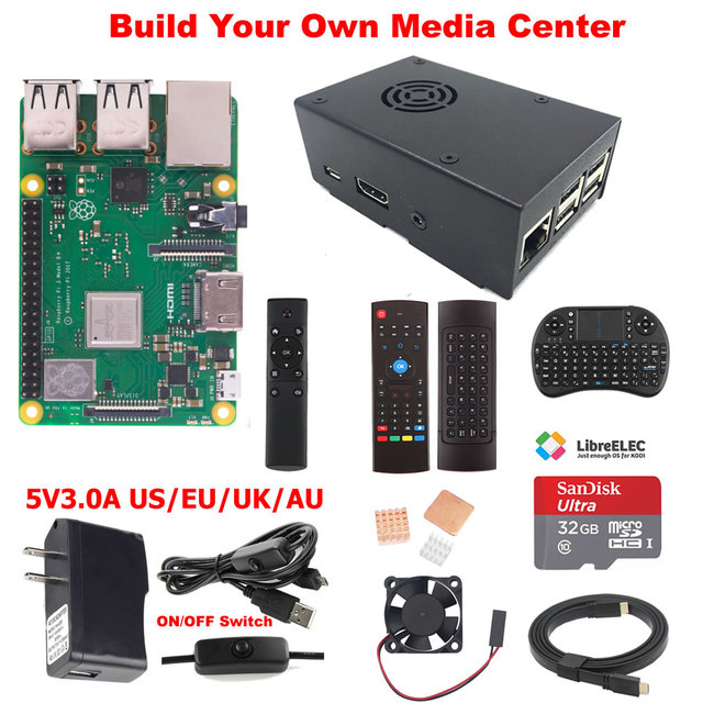 US $38 87 |Raspberry Pi 3 Model B+ B Plus Media Center Kit-in Demo Board  from Computer & Office on Aliexpress com | Alibaba Group