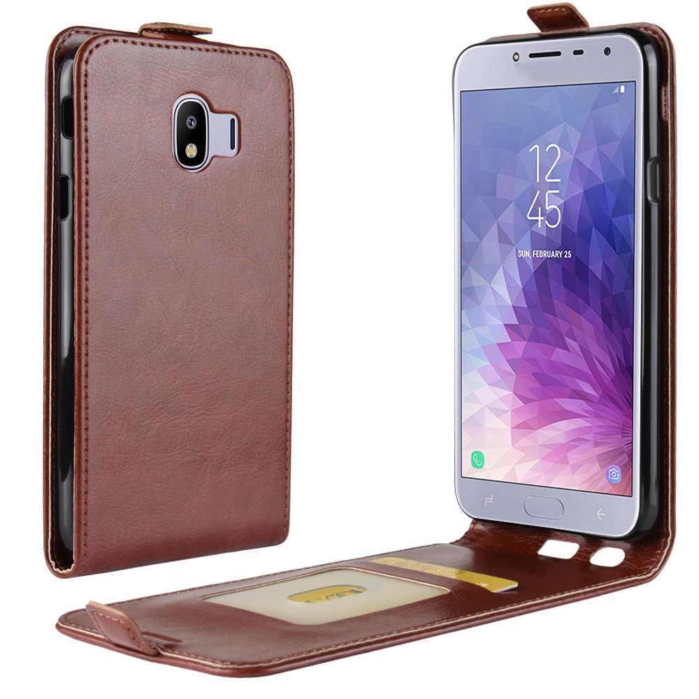 brand new 2ff11 ae24b For Samsung Galaxy J4 2018 Case Samsung J4 J6 Plus J8 2018 Case Luxury PU  Leather Case For Samsung Galaxy J4 SM-J400F J400F Flip