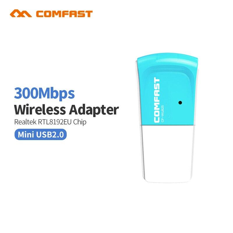 300 m Comfast Adaptador wi-fi receptor Usb Wifi Adaptador wi-fi punto de acceso Wifi wifi RTL8192CU wi fi inalámbrica dongle CF-WU825N