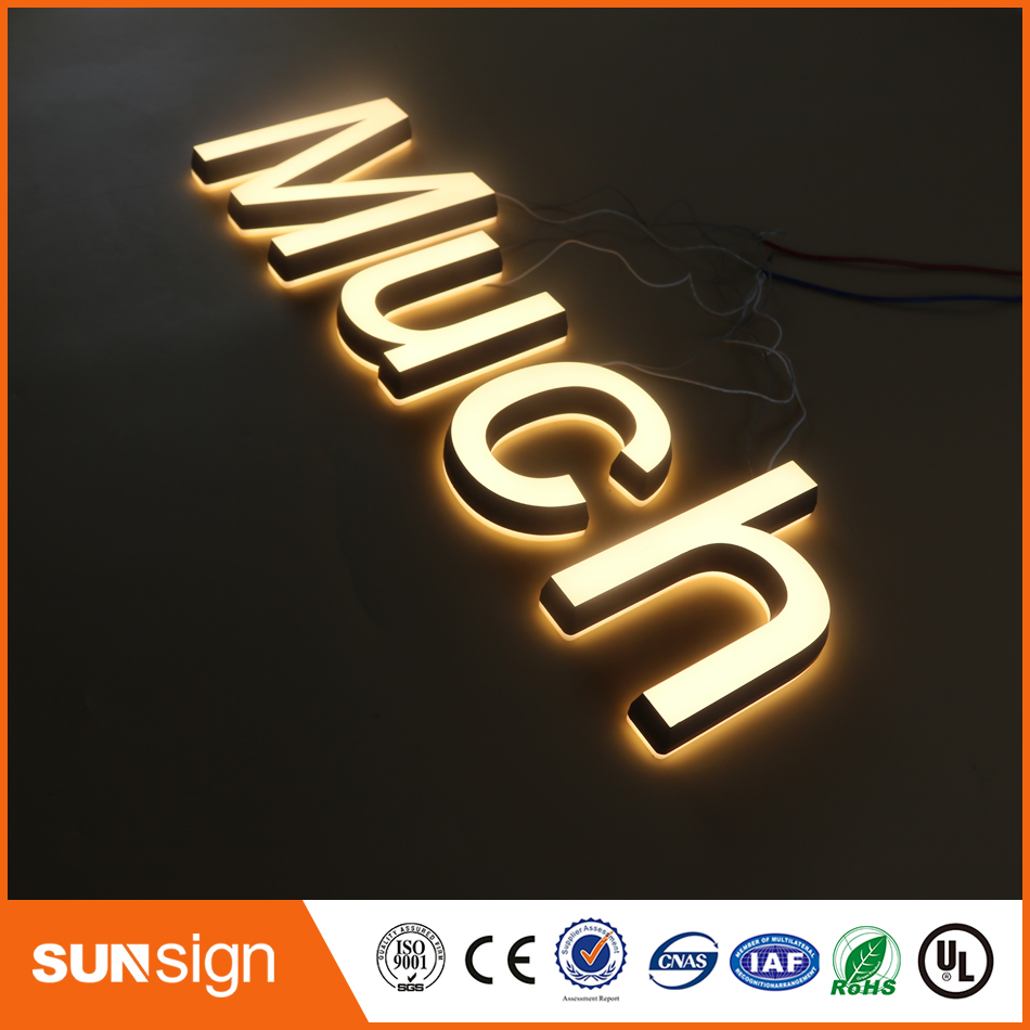 3D Front And Back Lit Acrylic Mini LED Channel Letter Sign