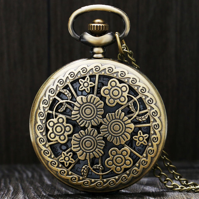 Beautiful Clock Flowers Nurse Quartz Pocket Watch Fashion Retro Necklace Pendant