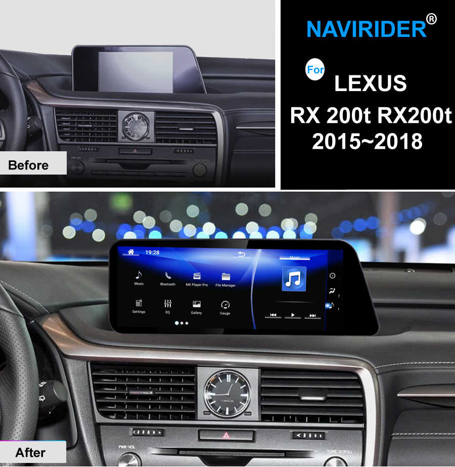 NAVIRIDER Car Android 7.1 odtwarzacz multimedialny dla Lexus RX 200t RX200t RX300 RX350 nawigacja gps mapy odtwarzacz nawigacyjny radio stereo