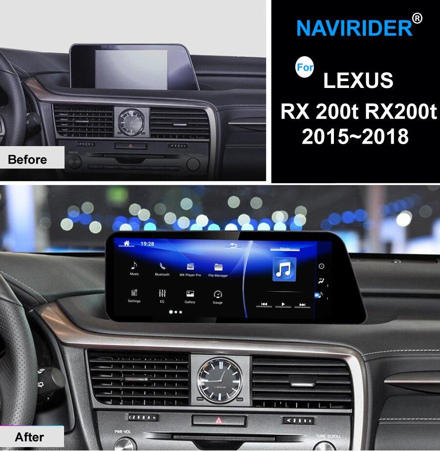 NAVIRIDER coche Android 7,1 reproductor multimedia para Lexus RX 200 t RX200t 2015 ~ 2018 GPS Navi mapas navegación jugador radio Estéreo