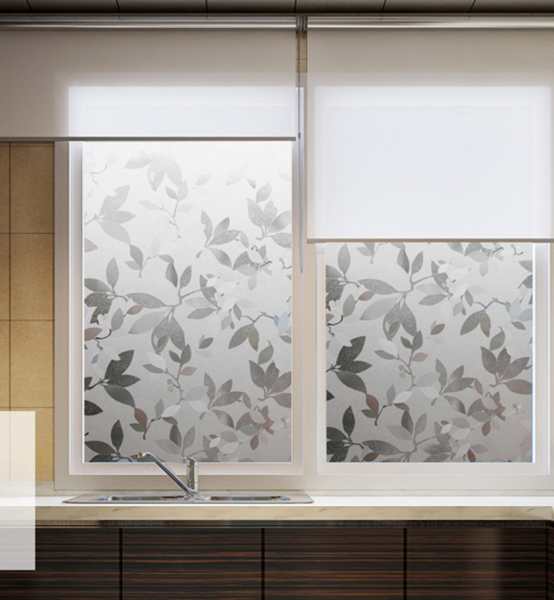 frosted uv static cling window film frosted living room sliding door decorative window film glass sticker - Window Film Decorative