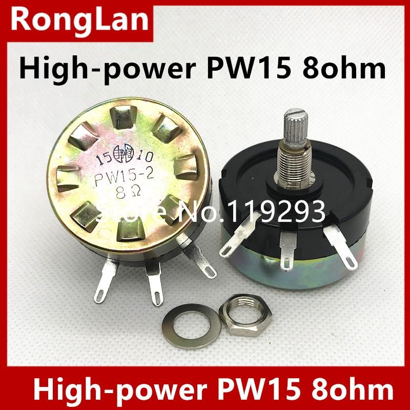 [SA]High-power PW15 8 Ohm PW15-2 8R Potentiometer Attenuator Wire Wound Attenuation Potentiometer.--5pcs/lot