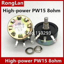 [SA] высокой мощности PW15 8 Ом PW15-2 8R 10% потенциометр аттенюатор проволочный затухание потенциометр. -- 2 шт./лот