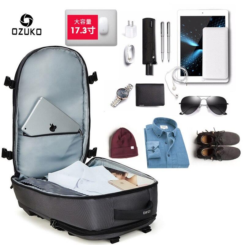 ZYJ hommes d'affaires voyage randonnée sac à dos pour ordinateur portable avec poche à chaussures femmes USB Interface de charge école sac à dos sac à dos sac à dos - 2