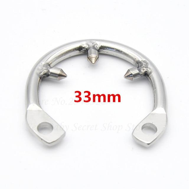 Macho castidad dispositivo Gallo Jaulas adicional púa anillo de pene de acero inoxidable tres puñalada anti erección anillo anti-derramamiento para hombres