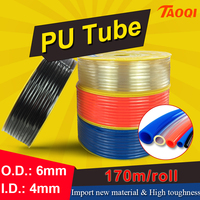 170m/Roll PU tube 6*4mm Air Pipe Pneumatic Hose Polyurethane OD 6mm ID 4mm for Compressor high quality Pneumatic parts