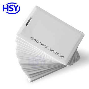 Special Middle of Reader reading 70-100cm range RFID Proximity EM ID 1.8MM Smart Long range Clamshell Card EM4200 Cards comptibl image