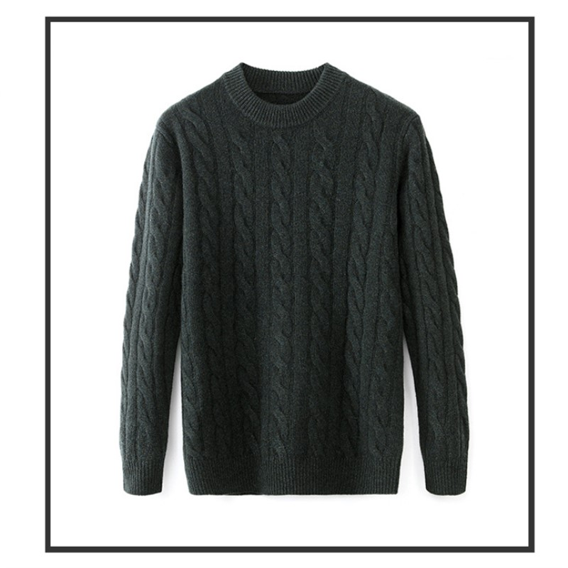 Autumn And Winter Male Quality Cashmere Sweater O Neck Brand Sweater Men's Solid Sweater Smart Casual Sweater