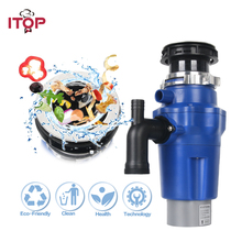 Continuous Feed Household Plug In Garbage Disposer for Kitchen Waste Disposal Operation Blue