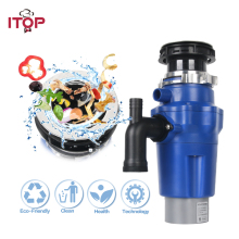 цены ITOP 1.3L Food Garbage Disposal food waste disposer With Air Switch Food Waste Crusher Processors Kitchen Sink Appliences